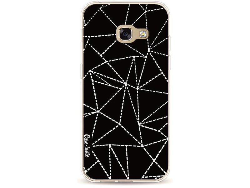 Casetastic Softcover Samsung Galaxy A3 (2017) - Abstract Dotted Lines Black