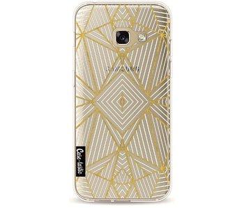 Abstraction Half Gold Transparent - Samsung Galaxy A3 (2017)