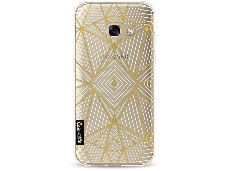 Casetastic Softcover Samsung Galaxy A3 (2017) - Abstraction Half Gold Transparent