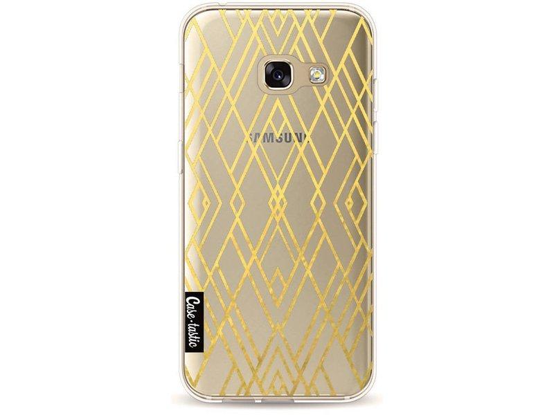 Casetastic Softcover Samsung Galaxy A3 (2017) - Art Deco Gold Transparent
