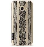 Casetastic Softcover Samsung Galaxy A3 (2017) - Cable Row Black Transparent