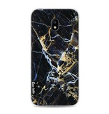 Casetastic Softcover Samsung Galaxy J3 (2017)  - Black Gold Marble