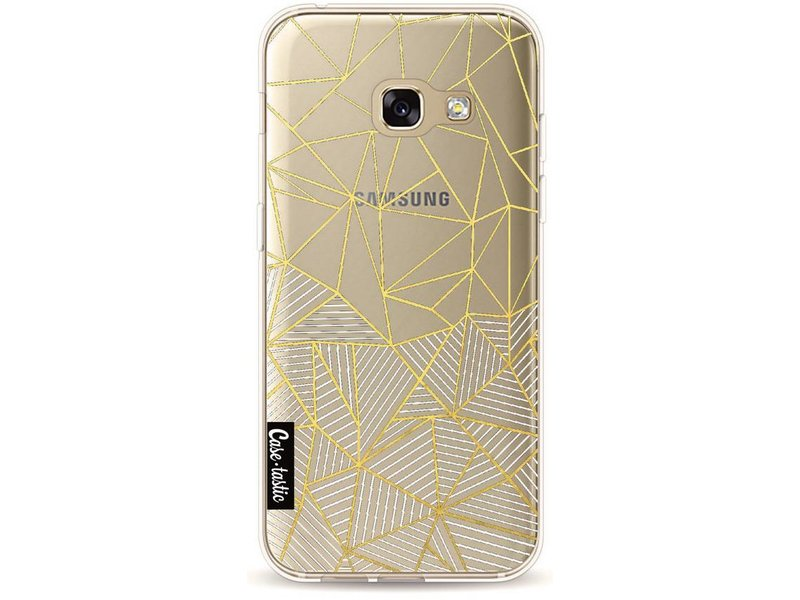 Casetastic Softcover Samsung Galaxy A3 (2017) - Abstraction Half Half Transparent