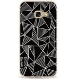 Casetastic Softcover Samsung Galaxy A3 (2017) - Abstraction Lines Black