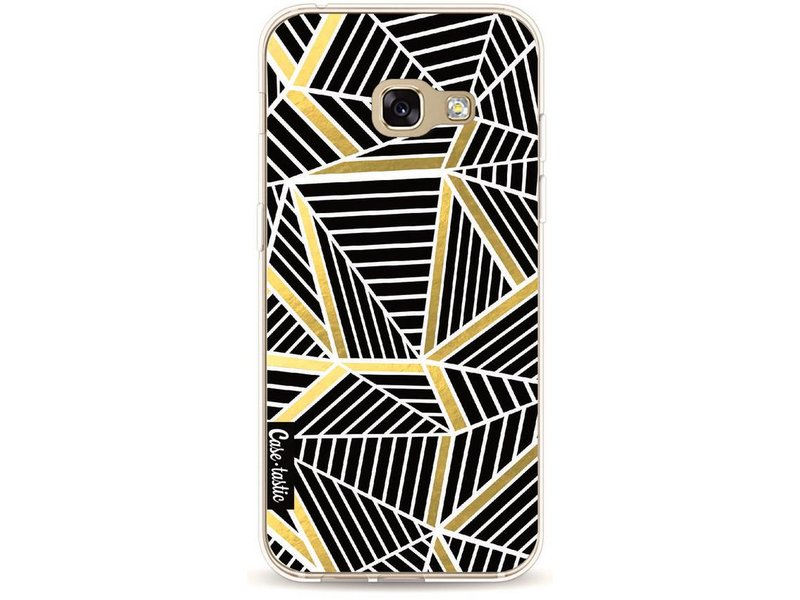 Casetastic Softcover Samsung Galaxy A3 (2017) - Abstraction Lines Black Gold
