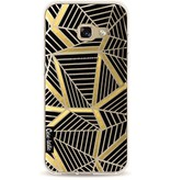 Casetastic Softcover Samsung Galaxy A3 (2017) - Abstraction Lines Black Gold Transparent