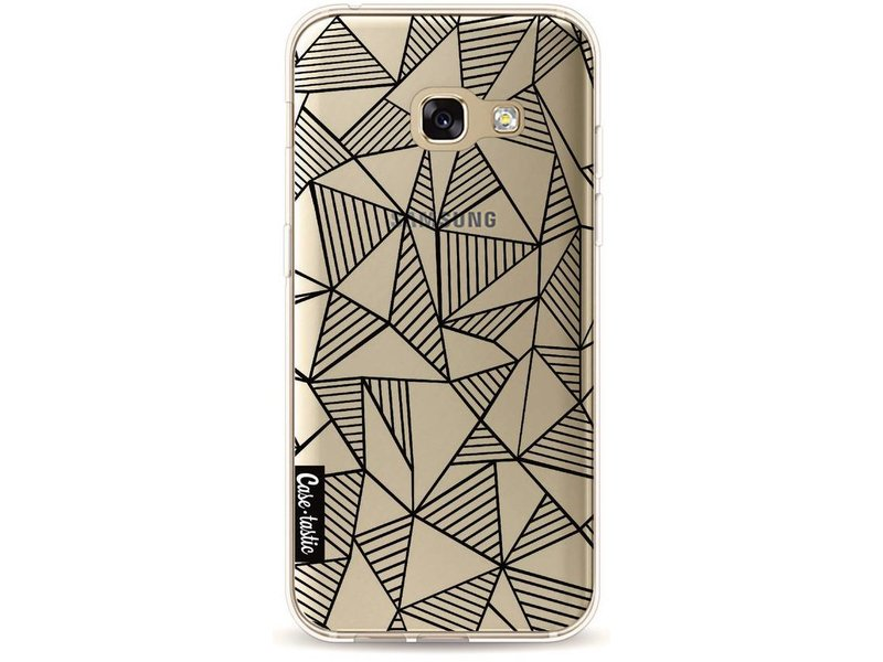 Casetastic Softcover Samsung Galaxy A3 (2017) - Abstraction Lines Black Transparent