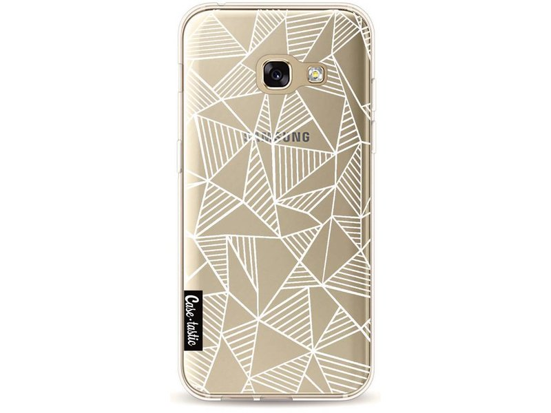 Casetastic Softcover Samsung Galaxy A3 (2017) - Abstraction Lines White Transparent