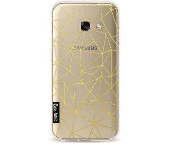 Abstraction Outline Gold Transparent - Samsung Galaxy A3 (2017)