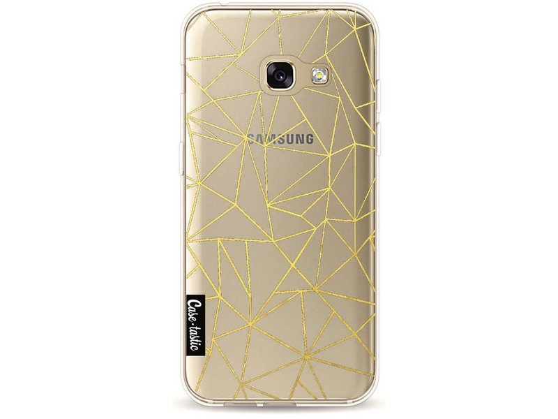 Casetastic Softcover Samsung Galaxy A3 (2017) - Abstraction Outline Gold Transparent