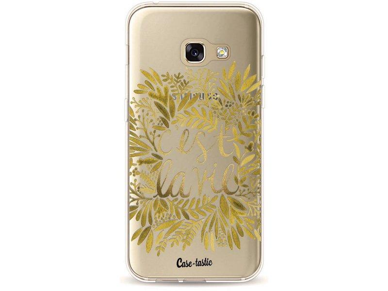 Casetastic Softcover Samsung Galaxy A3 (2017) - Cest La Vie Gold