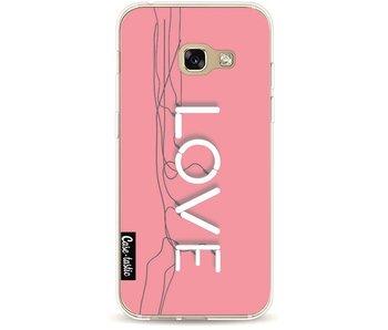 Love Neon Pink - Samsung Galaxy A3 (2017)
