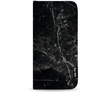 Black Marble - Wallet Case Black Apple iPhone 7 Plus