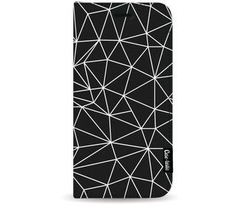 So Many Lines! White - Wallet Case Black Apple iPhone 7 Plus
