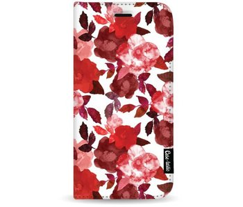 Royal Flowers Red - Wallet Case White Apple iPhone 7 Plus