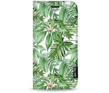 Transparent Leaves - Wallet Case White Apple iPhone 7 Plus