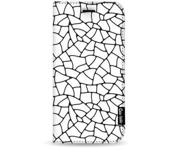 Transparent Mosaic - Wallet Case White Apple iPhone 7 Plus