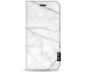 White Marble - Wallet Case White Apple iPhone 7 Plus