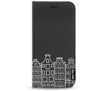 Amsterdam Canal Houses White - Wallet Case Black Motorola Moto G5