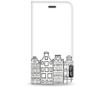 Amsterdam Canal Houses - Wallet Case White Motorola Moto G5