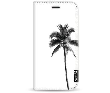 Palm Tree Transparent - Wallet Case White Motorola Moto G5