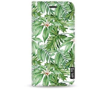 Transparent Leaves - Wallet Case White Motorola Moto G5