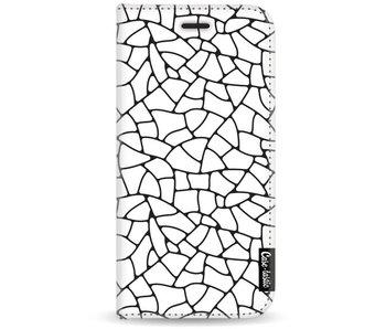 Transparent Mosaic - Wallet Case White Motorola Moto G5