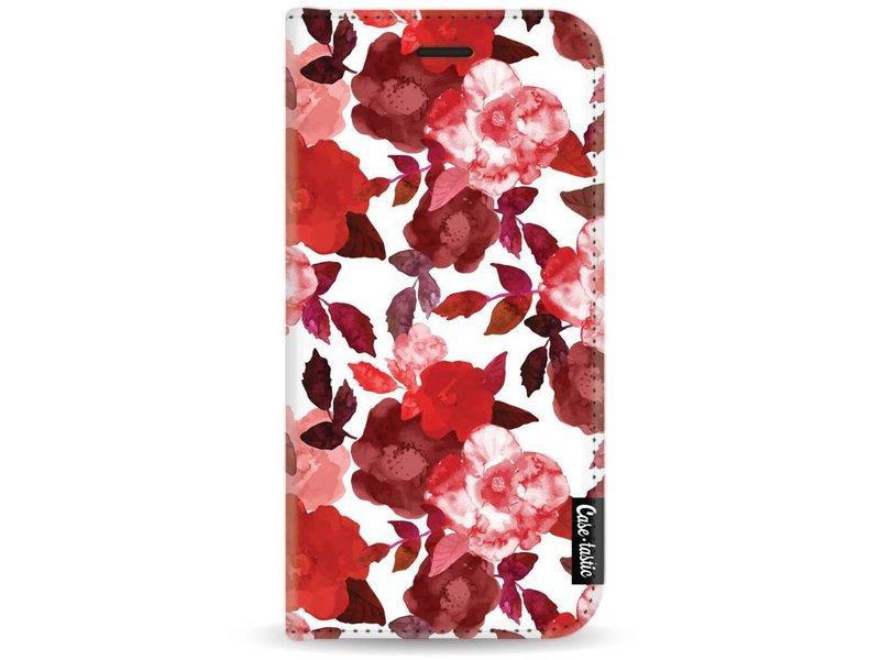 Casetastic Wallet Case White Motorola Moto G5 - Royal Flowers Red
