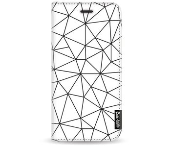 So Many Lines! Black - Wallet Case White Motorola Moto G5