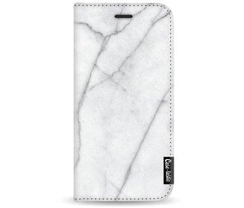 White Marble - Wallet Case White Motorola Moto G5