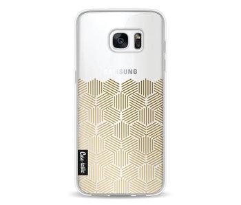 Golden Hexagons - Samsung Galaxy S7 Edge