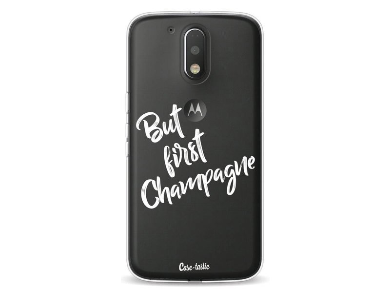 Casetastic Softcover Motorola Moto G4 / G4 Plus - But First Champagne