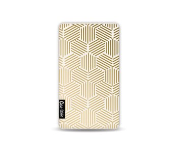 Golden Hexagons - Powerbank 4.000 mAh White
