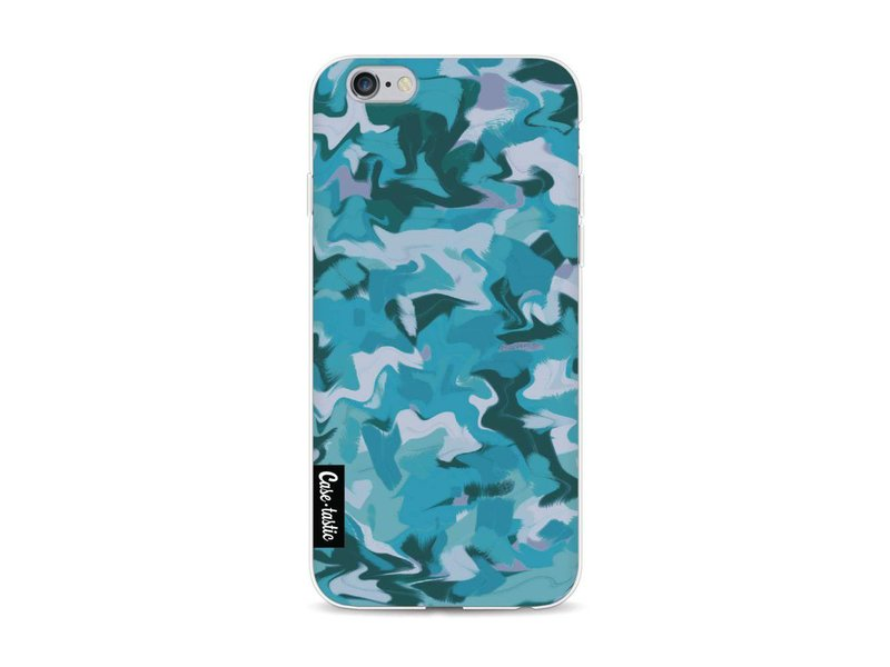 Casetastic Softcover Apple iPhone 6 / 6s - Aqua Camouflage