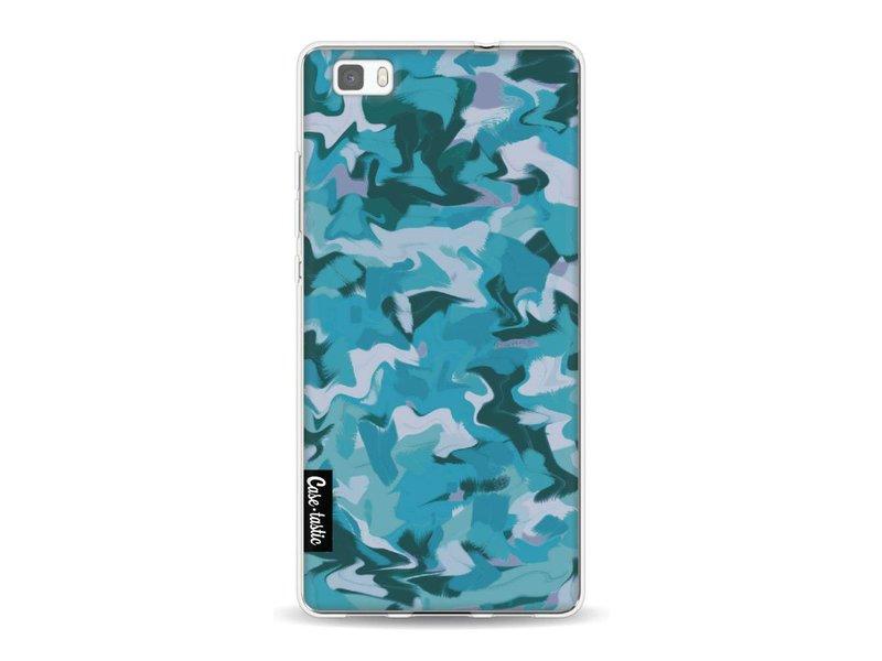 Casetastic Softcover Huawei P8 Lite - Aqua Camouflage