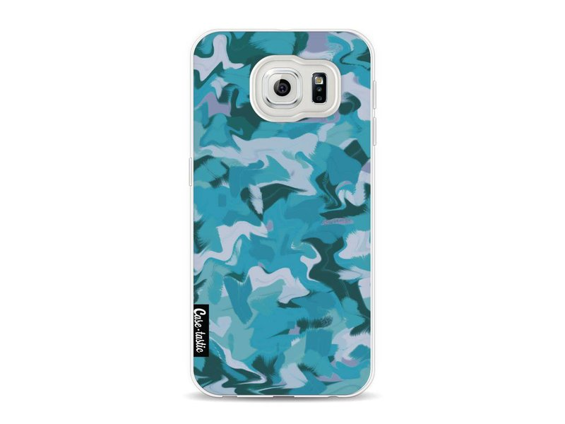 Casetastic Softcover Samsung Galaxy S6 - Aqua Camouflage