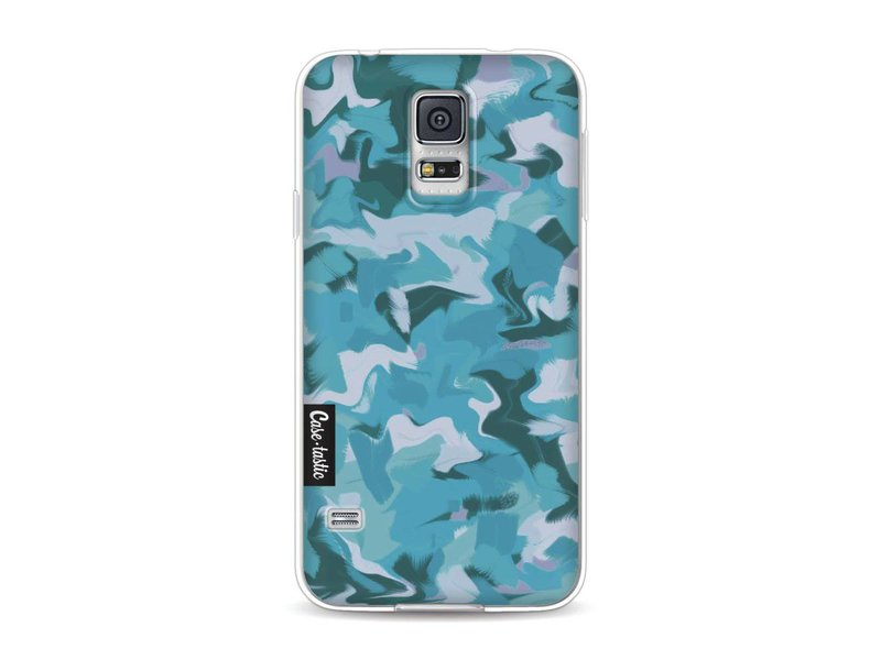 Casetastic Softcover Samsung Galaxy S5  - Aqua Camouflage