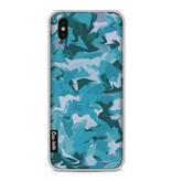 Casetastic Softcover Apple iPhone X - Aqua Camouflage