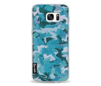 Aqua Camouflage - Samsung Galaxy S7 Edge