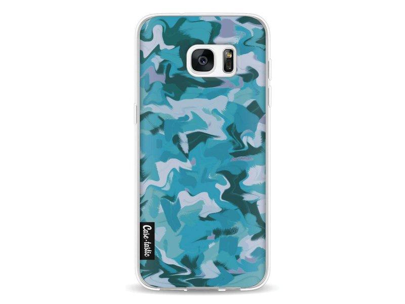 Casetastic Softcover Samsung Galaxy S7 Edge - Aqua Camouflage