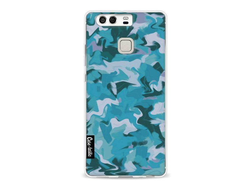 Casetastic Softcover Huawei P9 - Aqua Camouflage