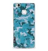 Casetastic Softcover Huawei P9 Lite - Aqua Camouflage