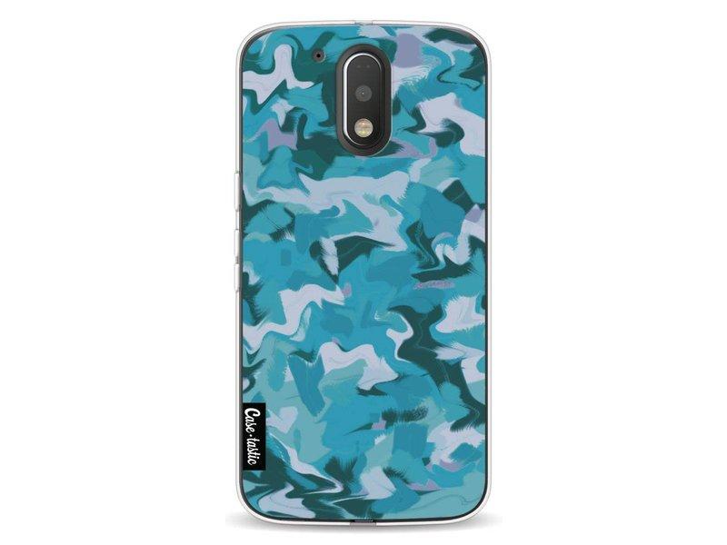 Casetastic Softcover Motorola Moto G4 / G4 Plus - Aqua Camouflage