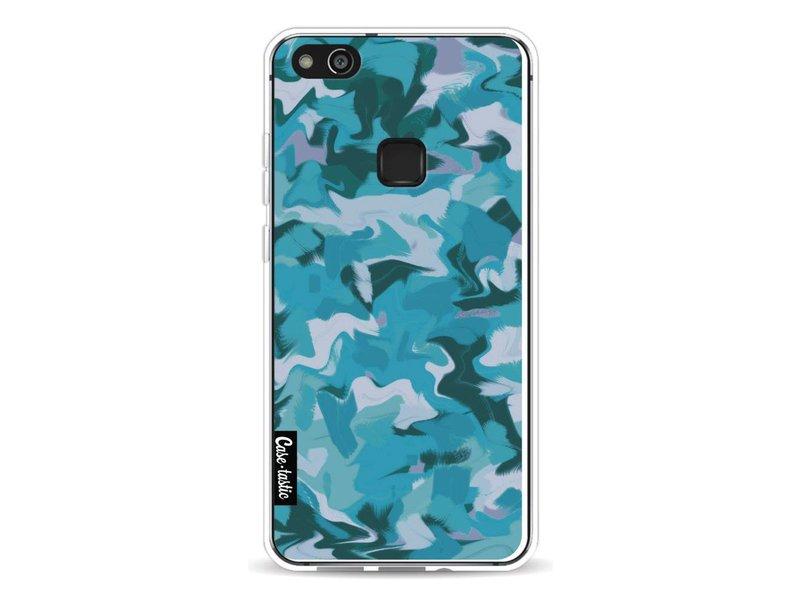 Casetastic Softcover Huawei P10 Lite - Aqua Camouflage