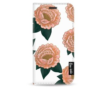 Winterly Flowers - Wallet Case White Apple iPhone 5 / 5s / SE