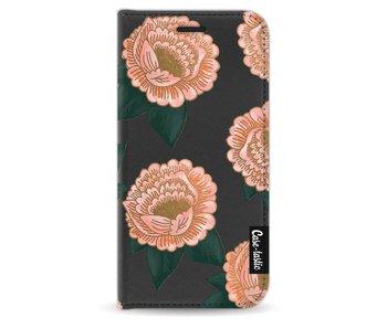 Winterly Flowers - Wallet Case Black Apple iPhone 5 / 5s / SE