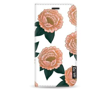 Winterly Flowers - Wallet Case White Samsung Galaxy A3 (2017)