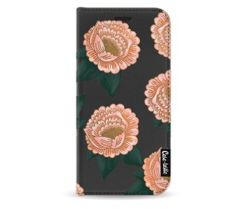 Winterly Flowers - Wallet Case Black Samsung Galaxy A3 (2017)