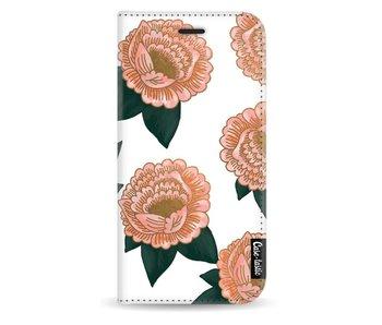 Winterly Flowers - Wallet Case White Samsung Galaxy J3 (2017)