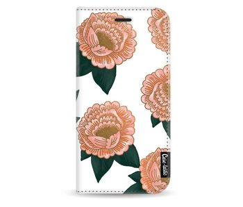Winterly Flowers - Wallet Case White Apple iPhone X